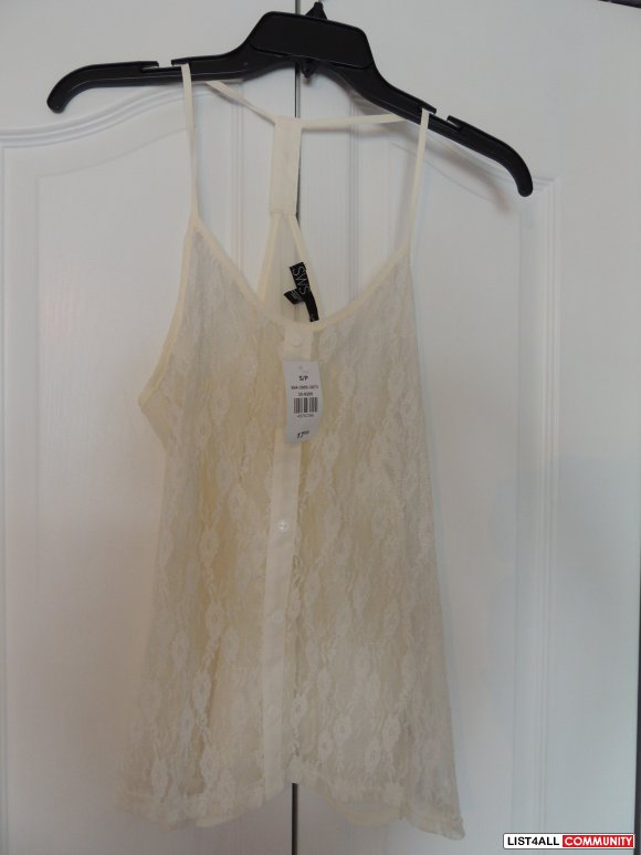 BNWT SWS Lace tank top