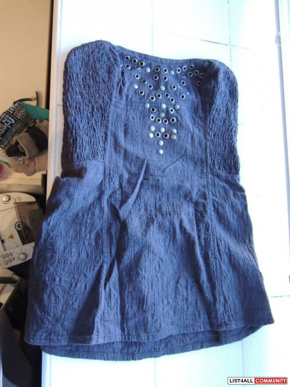 Free People grey studded tank Size S  $5