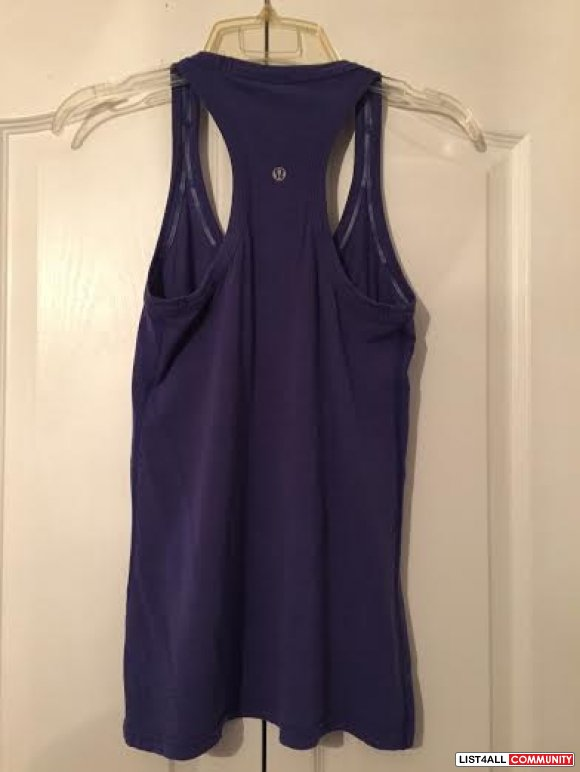 Blue Reversible Lululemon tank top