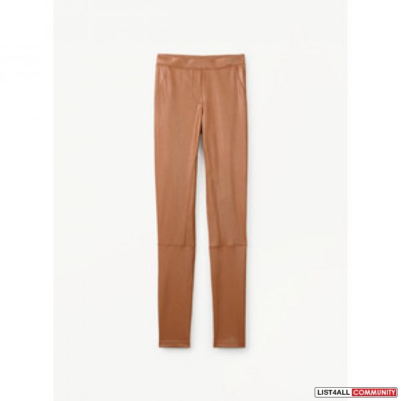 NEW ARITZIA WILFRED FREE REBELLE PANT LEATHER LEGGING HAZEL BROWN XXS