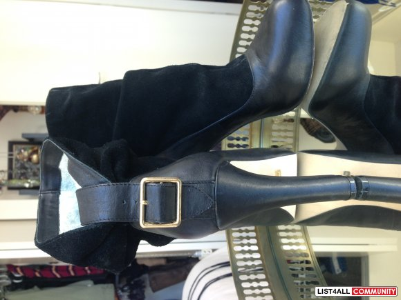 Matiko black slouchy ankle boots size 8