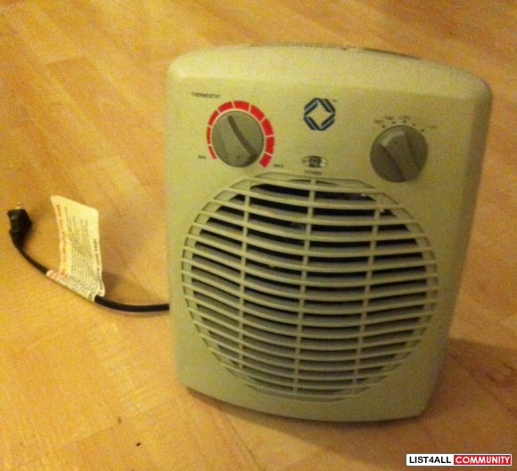 Small fan space heater