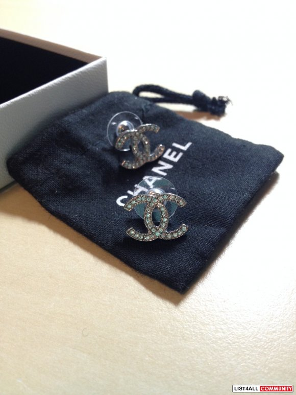 Reduced Price Authentic Chanel Cc Earrings