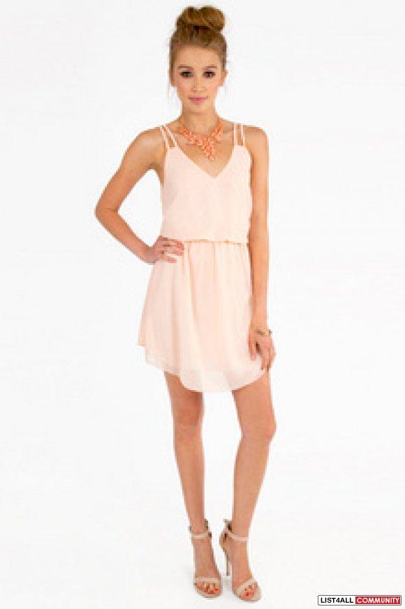Tobi Pale pink casual or formal dress ( Tobi square one tank dress ... ba1e2f8f7