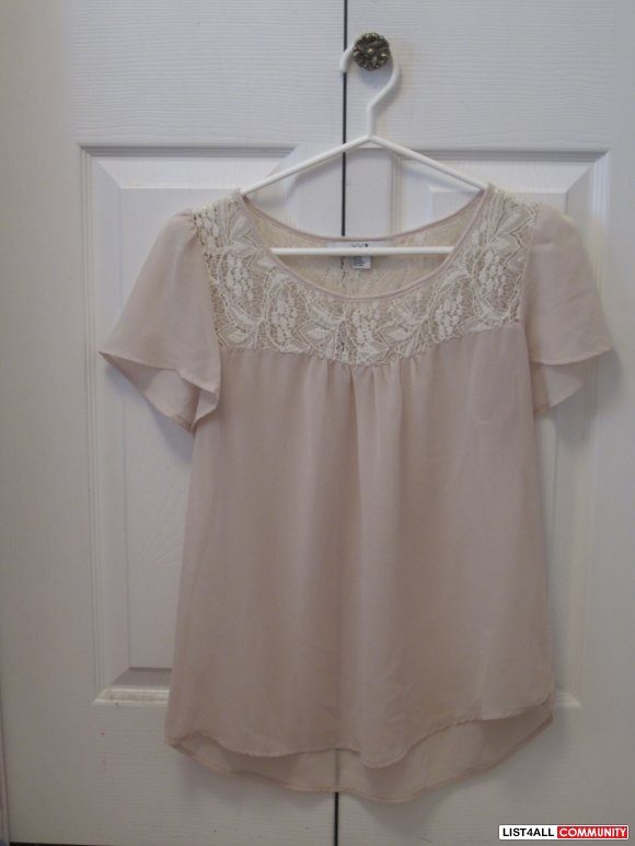 Light Pink Lace Top