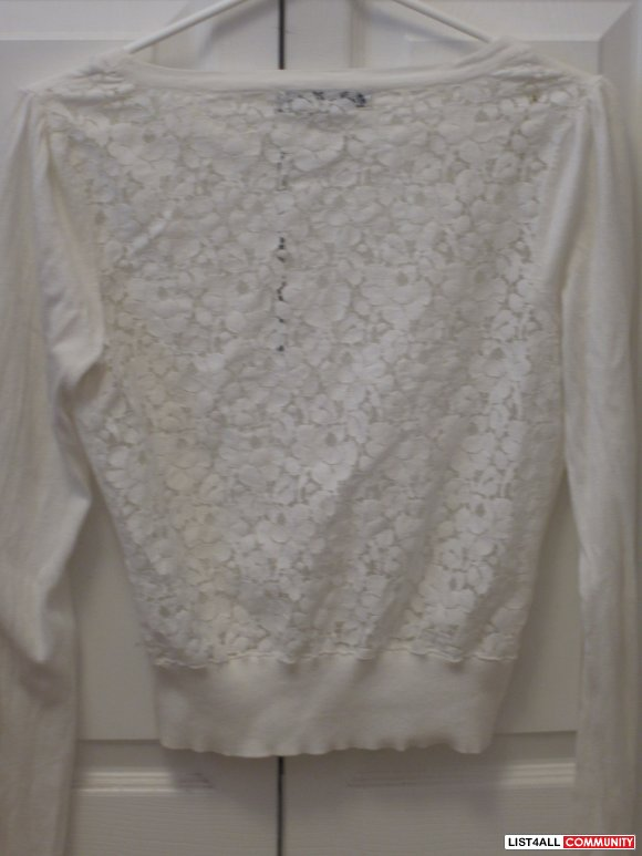 Pretty forever 21 lace back cardigan