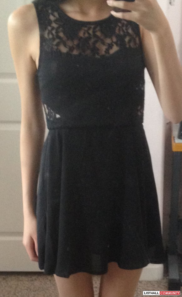 Black dress with lace insets BNWT