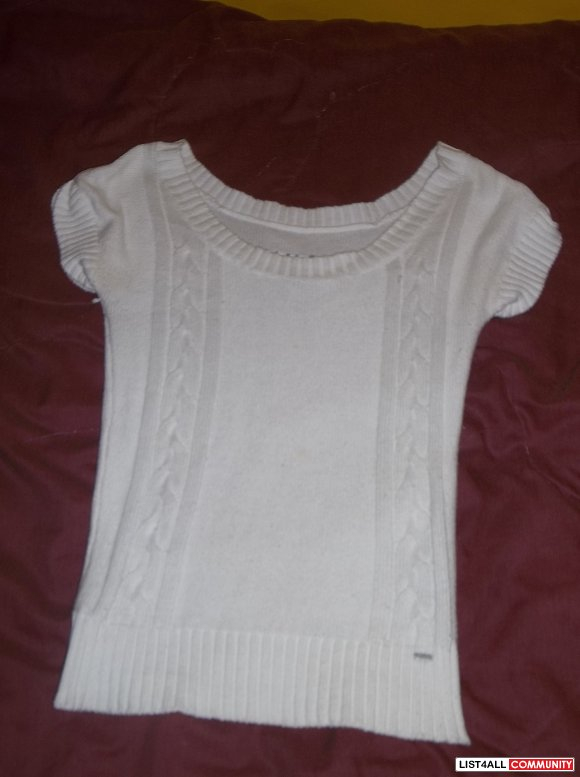 White Garage Short Sleeve Sweater