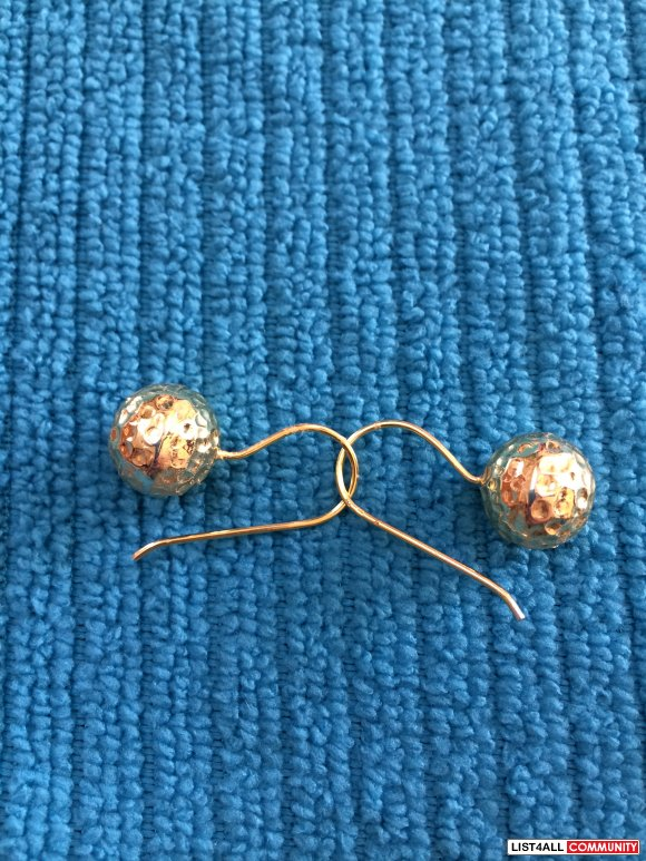 Sterling Silver Plated 18K Gold Earrings