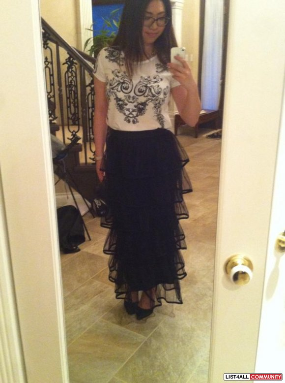 High Waisted Layered Maxi Skirt (NOW $25!)