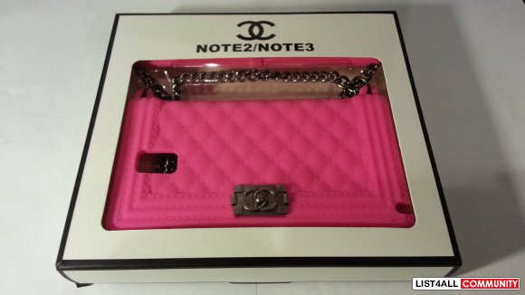 Chanel Le Boy Cell Phone Case for Note 3 Hot Pink