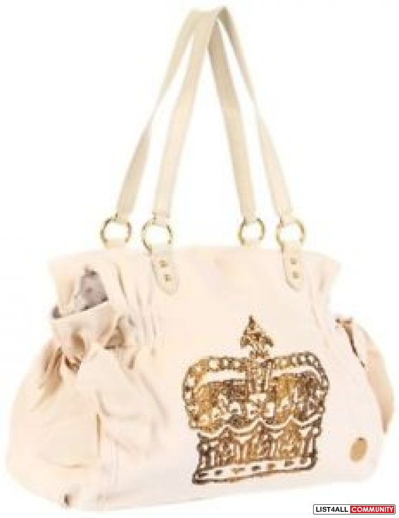 3b68a3dc621dd9 ... AUTHENTIC JUICY COUTURE Vintage CROWN Velour MS DAYDREAMER Tote BAG ...