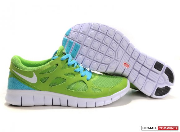 Nike Free Run 2 Men Light Green Blue White,http://www.cheaprunsale.com