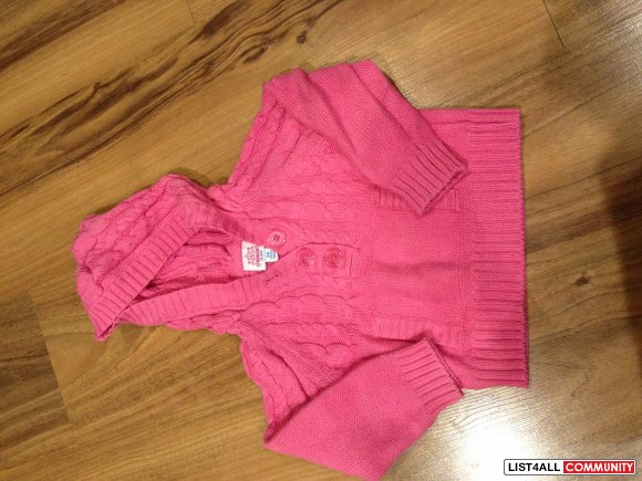 childrens place hooded pink sweater