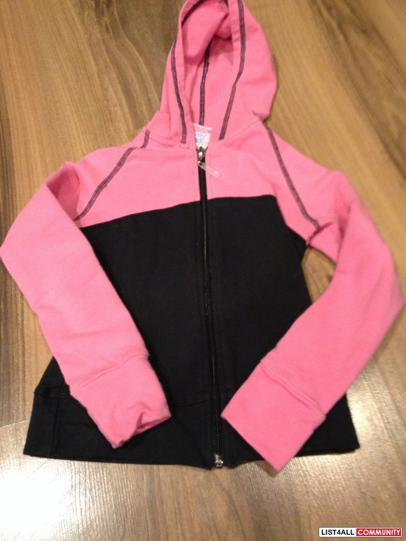 yogini black and pink hoodie size 5