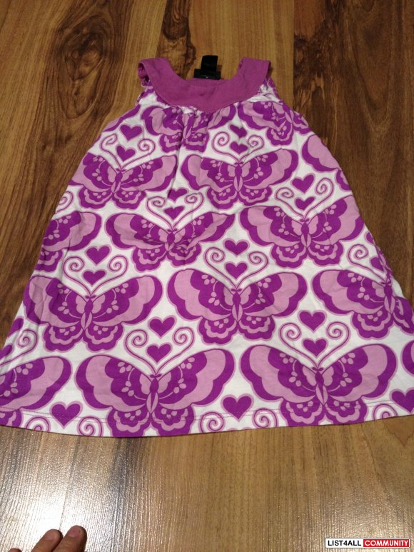 h and m purple and white summer dress