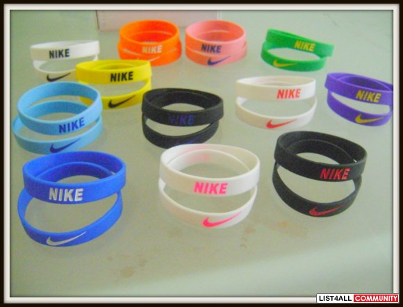 nike silicone bracelet Rubber sports