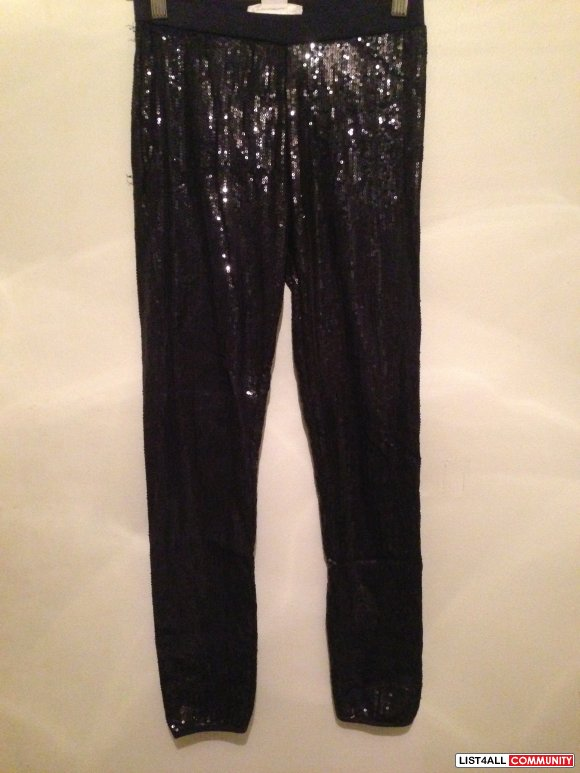 Joe Fresh runway sequin leggings