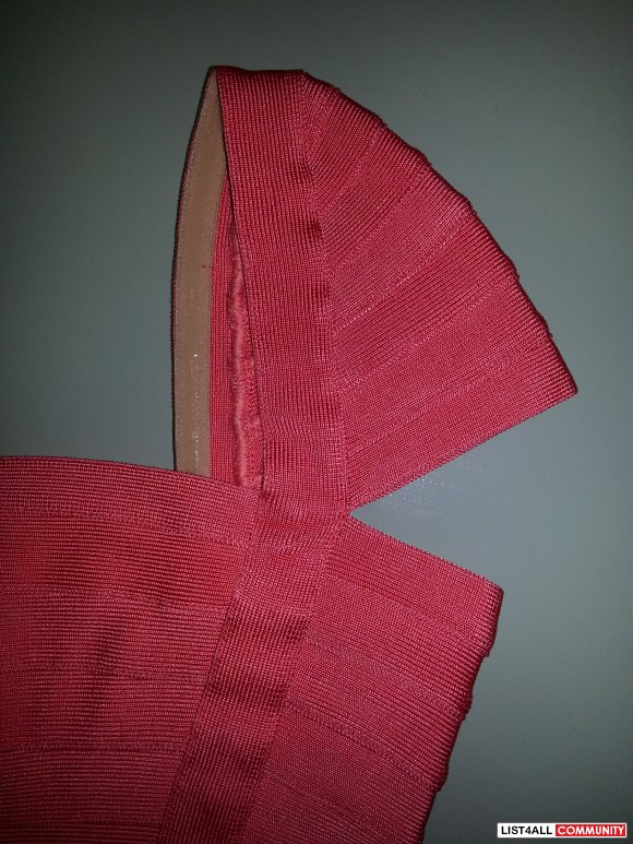 cef56bf1ea3f ... Herve Leger Coral Capsleeve Bandage Dress S Bebe Marciano bcbg
