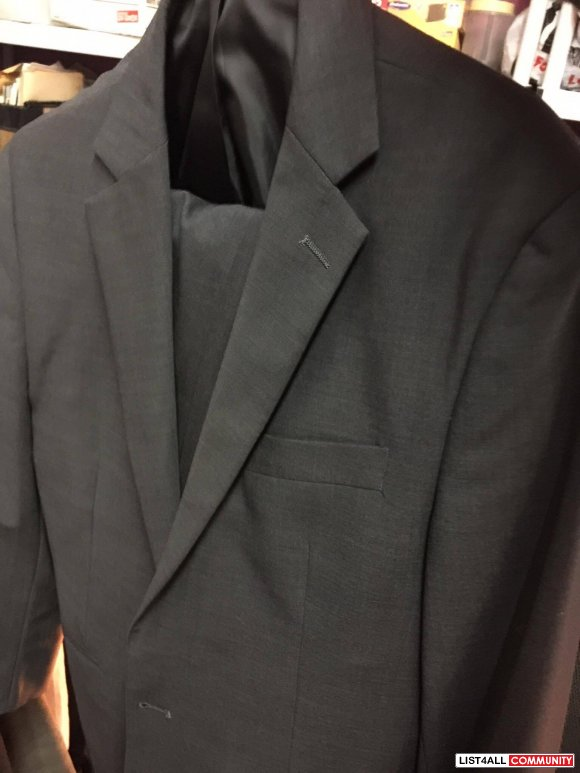 Dark Grey Charcoal Suit from Lechateau
