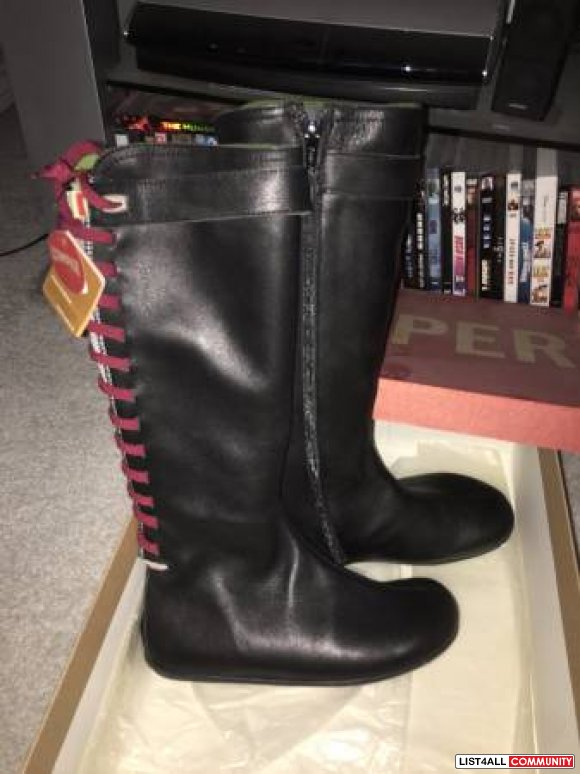 BNWT Camper Leather Knee High Boots Size 36