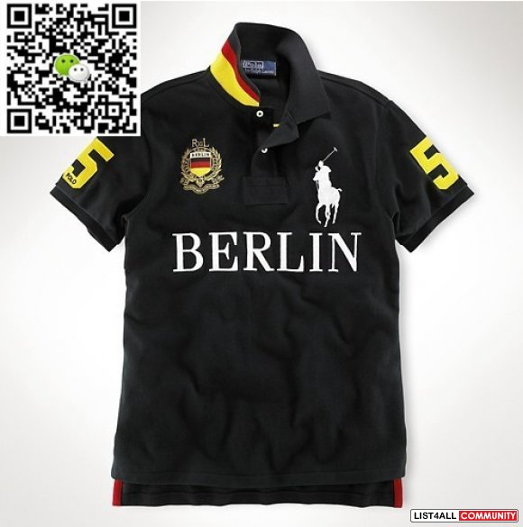 Ralph Lauren Men Big Pony Polo Berlin Black Outlet Sale