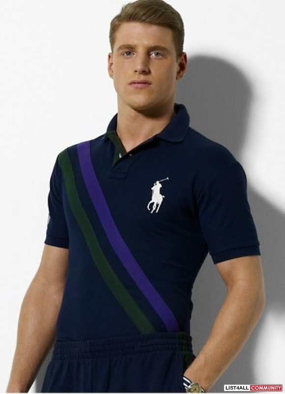 Ralph Lauren Men Twill Banner Big Pony Polo outlet online