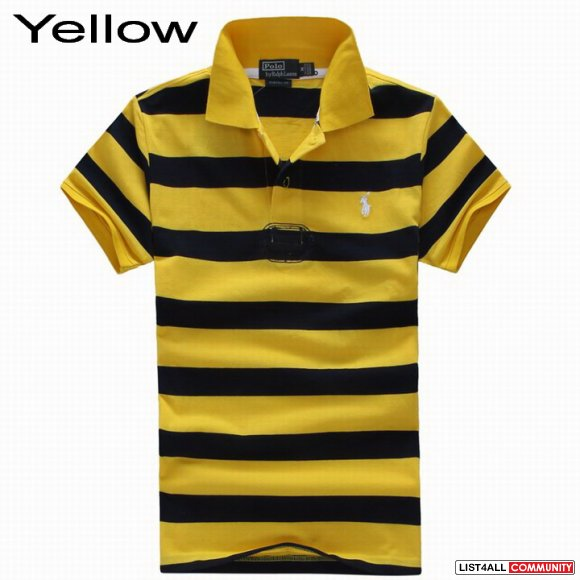 Ralph Lauren Men Custom Striped Stretch Mesh Polo Outlet