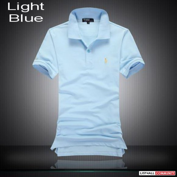 Ralph Lauren Men Ribbed Collar Short Sleeve Polo Shirts On Sale