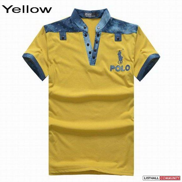 Ralph Lauren Men Jeans Collar Short Sleeve Polo Shirts On Sale