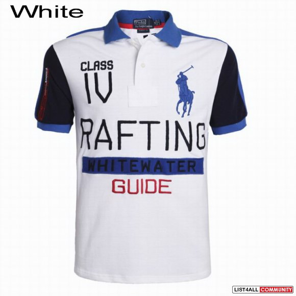 Ralph Lauren Men Rafting Whitewater Guide Polo Short Sleeve Shirts