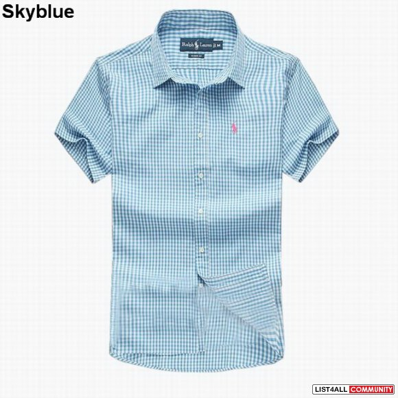 Ralph Lauren Men Slim-Fit Check Short Sleeve Shirts UK Online