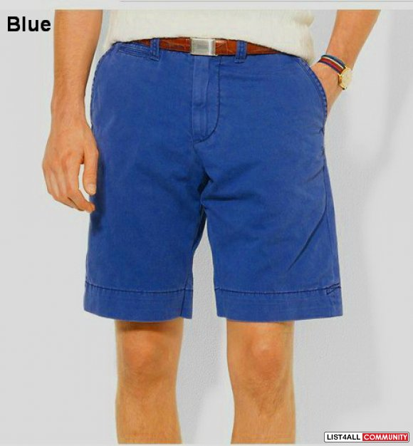Ralph Lauren Men Solid Polo Shorts Chino UK On Sale
