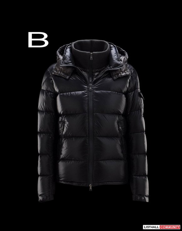 Moncler Zin Men Inset Removable Zip-Front Bib Shiny Jacket