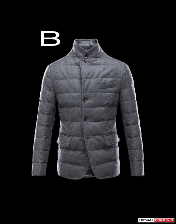 Moncler Rodin Men Quilted English Flannel Jacket Cheap Sale