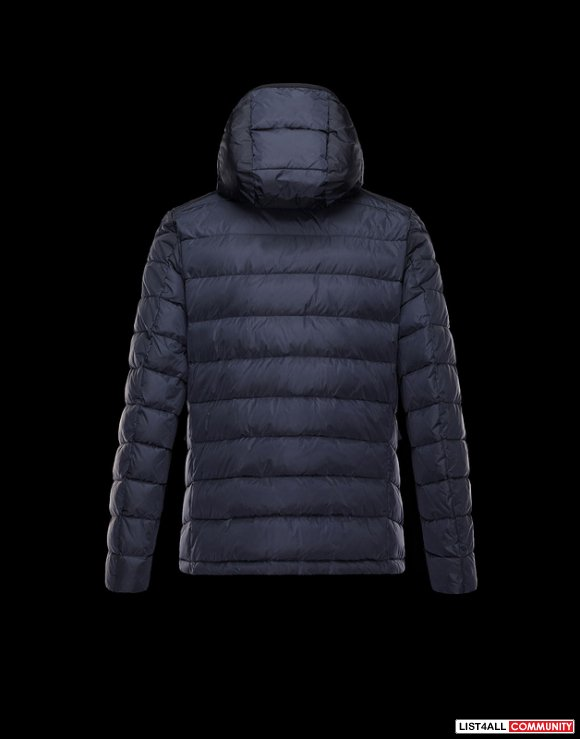 Moncler River Men Detachable Hood Silky Nylon Parka Sale