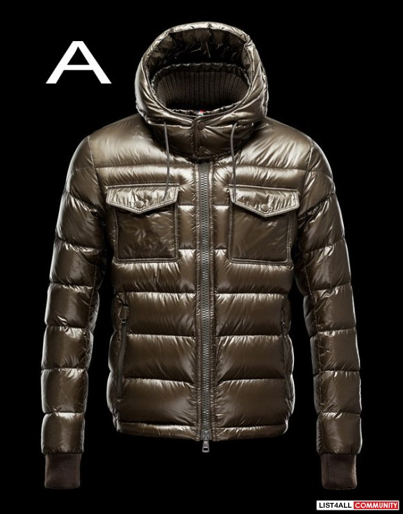 Moncler Fedor Men Funnel Collar Shiny Padded Down Jacket Cheap