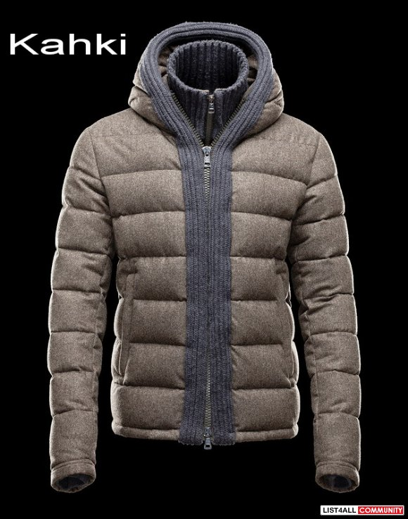 Moncler Canut Men Featureing Hood With Woven Edge Collar Jacket