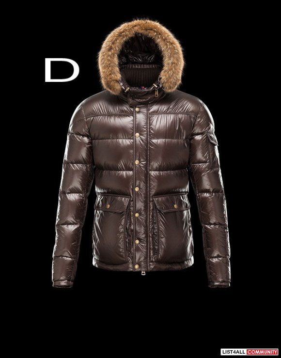 Moncler Hubert Men Zip Detachable Hood Quilted Down Parka Sale