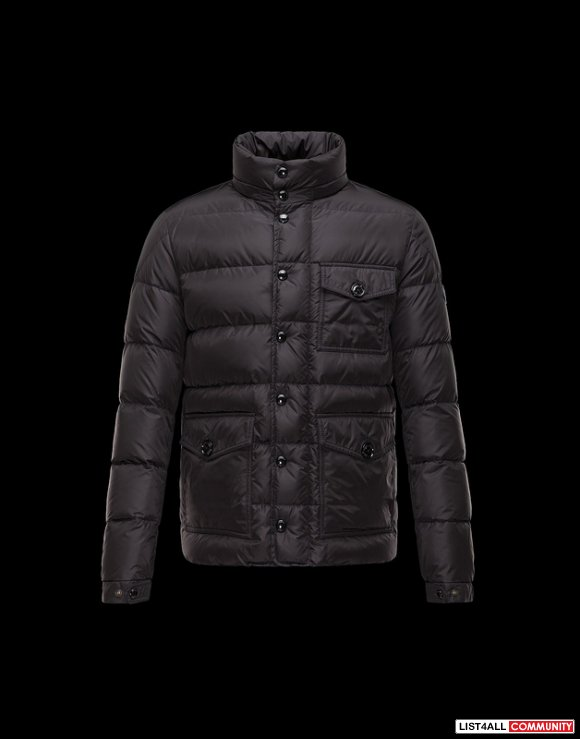 Moncler Jason Men Detachable Hood Down Jacket Navy Cheap Sale