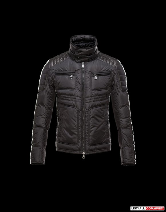 Moncler Dimitri Men Silky Smooth Nylon Down Biker Jacket For Sale