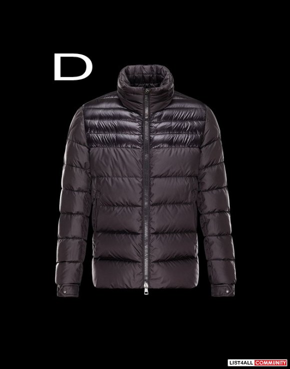 Moncler Dinant Men Concealed Hood Shiny Down Jacket Online Sale