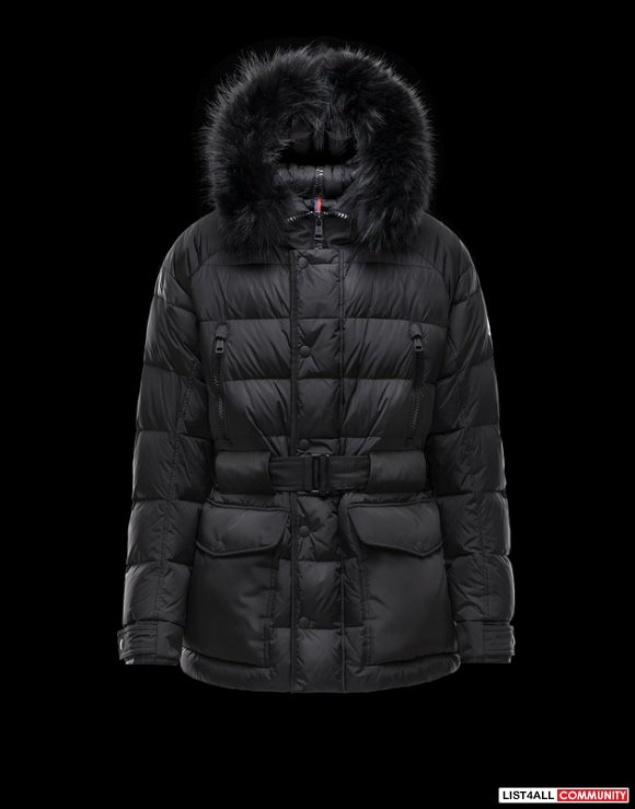 Moncler Dylan Men Detachable Fur Trim Padded Parka Online Sale