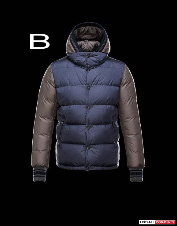 Moncler Monfort Men Rainwear Fixed Hood Qualite Down Jacket