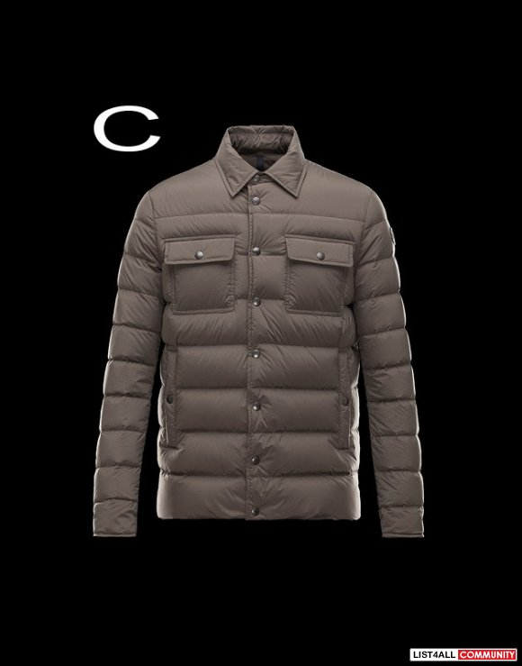 Moncler Luberon Men Lightweight Nylon Quilted Down Shirt Jacket