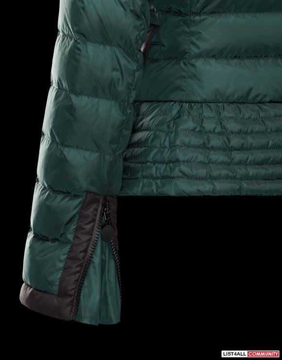 Moncler Biber Women Nylon With Silky Double Breasted Jacket Sale