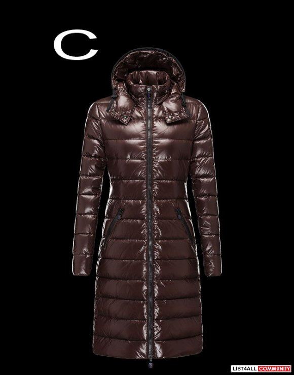 Moncler Moka Women Detachable Hood Allover Quilted Down Coat