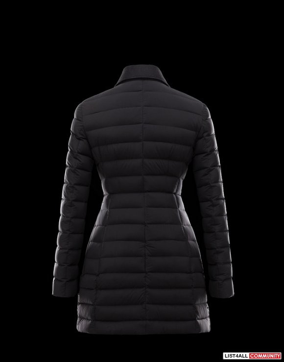 Moncler Noues Women Doudoune Elastique Broadcloth Collar Coat Hot