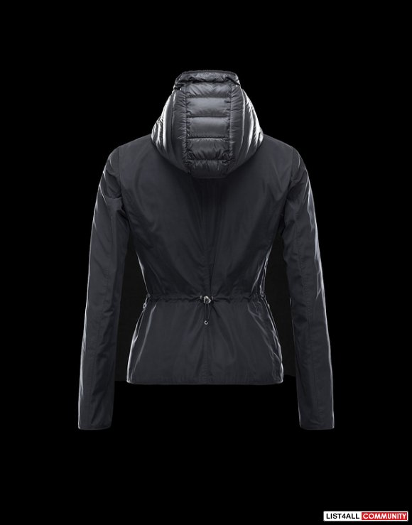 Moncler Lime Women Zip-In Hooded Bib Inset Quilted Cozy Down Jacket