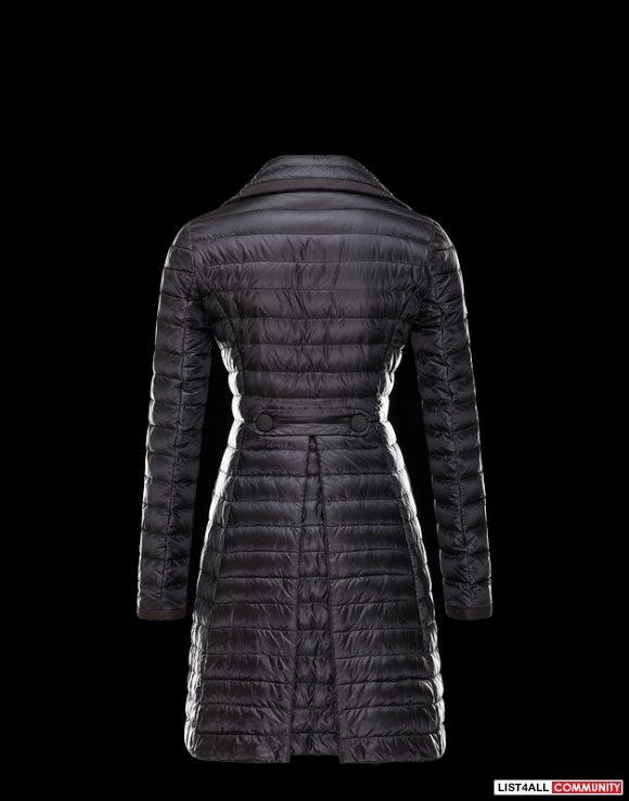 Moncler Flameng Women Ultralight Double-Breasted Down Coat Outlet